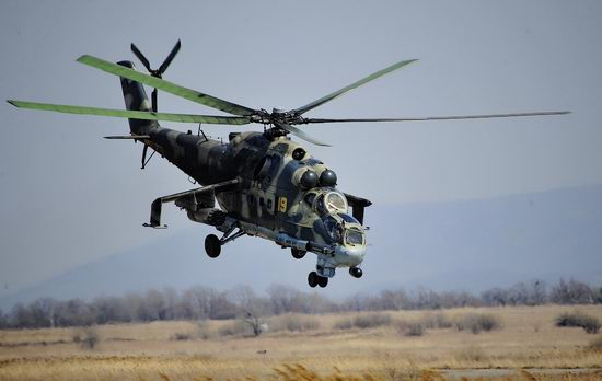 New Russian combat helicopters flights view 22