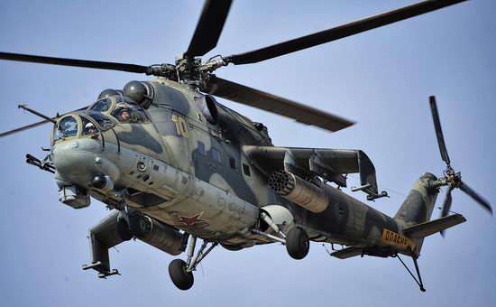 New Russian combat helicopters flights view 23