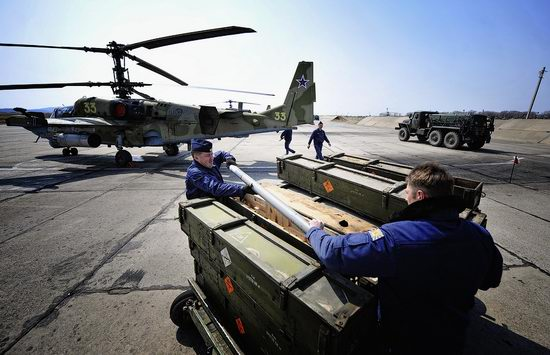 New Russian combat helicopters flights view 5