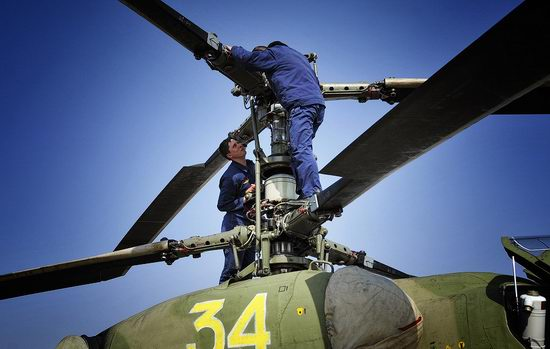 New Russian combat helicopters flights view 9