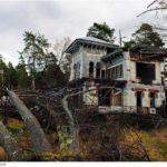 The remains of beautiful Sorokin's dacha