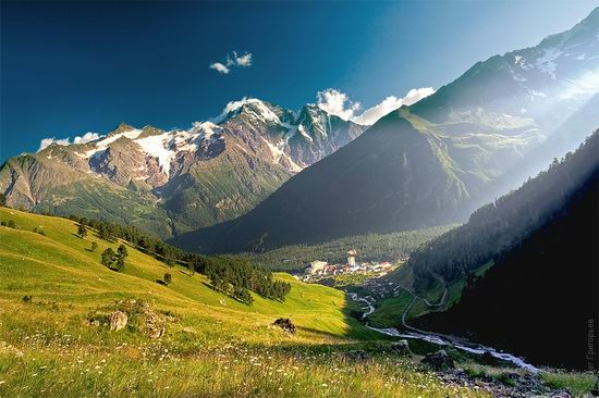 Mount Elbrus - highest peak in Russia view 1