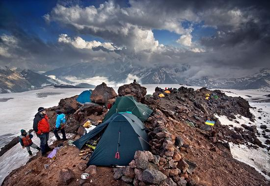 Mount Elbrus - highest peak in Russia view 12