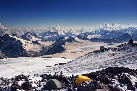 Mount Elbrus - highest peak in Russia view 13