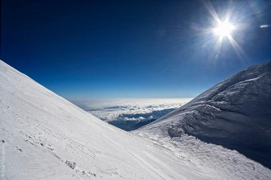 Mount Elbrus - highest peak in Russia view 14