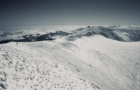 Mount Elbrus - highest peak in Russia view 15