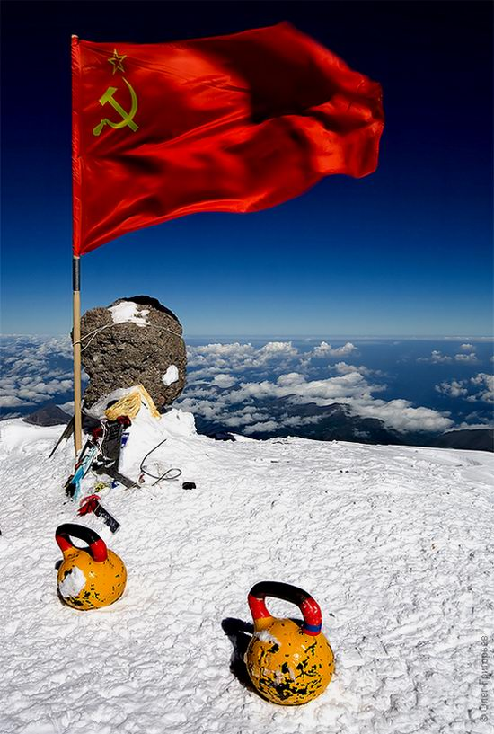 Mount Elbrus - highest peak in Russia view 16