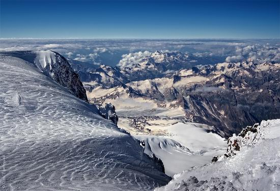Mount Elbrus - highest peak in Russia view 17