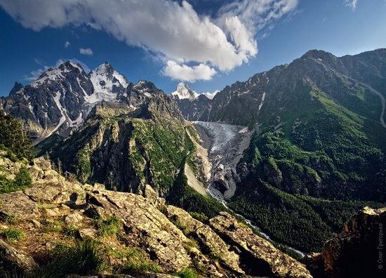 Mount Elbrus - highest peak in Russia view 2