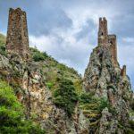 Beautiful views of the mountainous Ingushetia