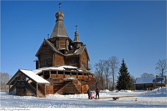 Wooden architecture museum. Novgorod oblast, Russia view 1