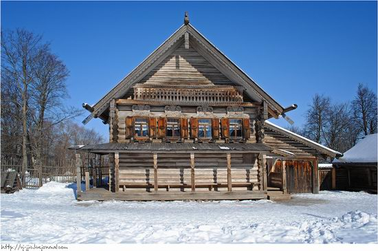Wooden architecture museum. Novgorod oblast, Russia view 13