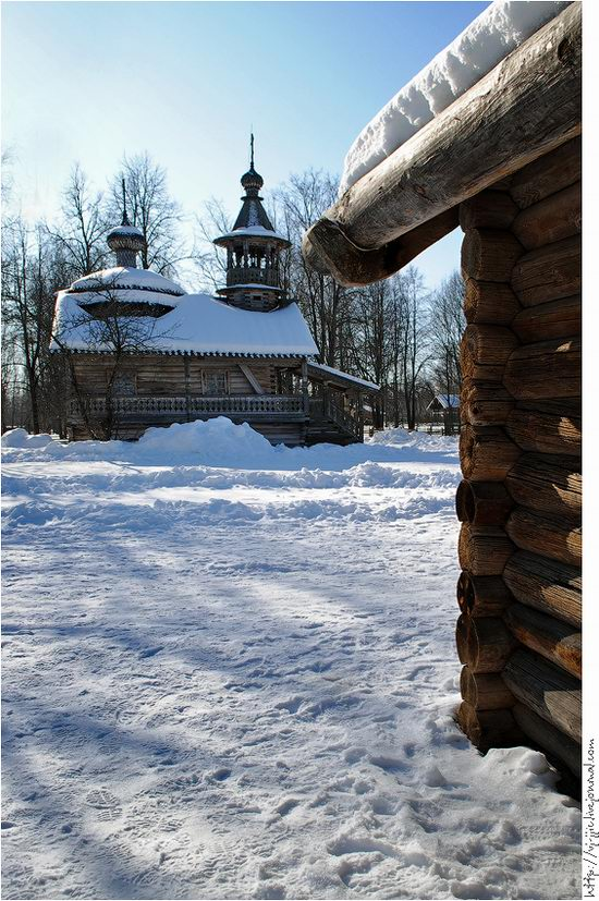 Wooden architecture museum. Novgorod oblast, Russia view 16