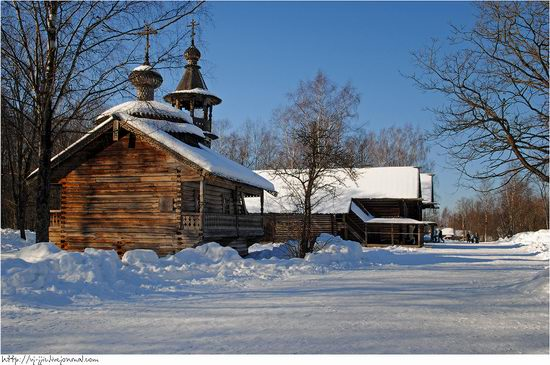 Wooden architecture museum. Novgorod oblast, Russia view 2