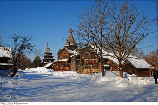 Wooden architecture museum. Novgorod oblast, Russia view 3