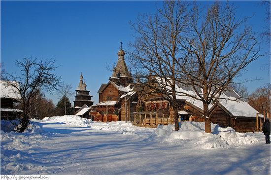 Wooden architecture museum. Novgorod oblast, Russia view 3
