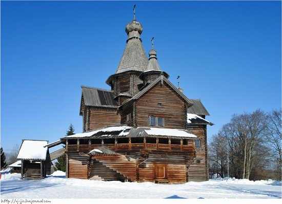 Wooden architecture museum. Novgorod oblast, Russia view 4
