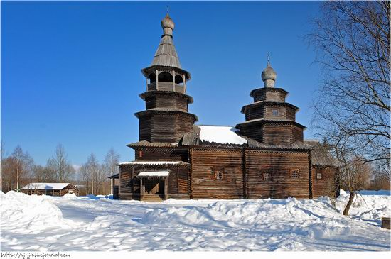 Wooden architecture museum. Novgorod oblast, Russia view 5