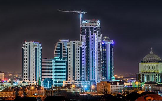 Grozny city, Russia night view from above photo 10