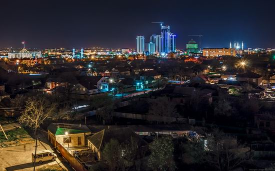 Grozny city, Russia night view from above photo 11