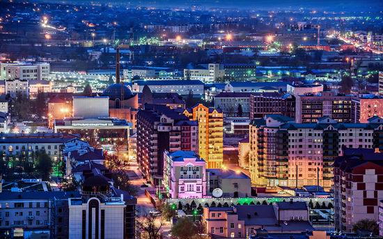 Grozny city, Russia night view from above photo 5