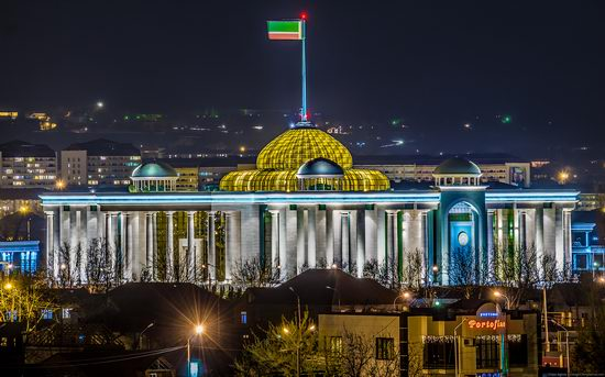 Grozny city, Russia night view from above photo 8