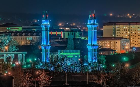 Grozny city, Russia night view from above photo 9