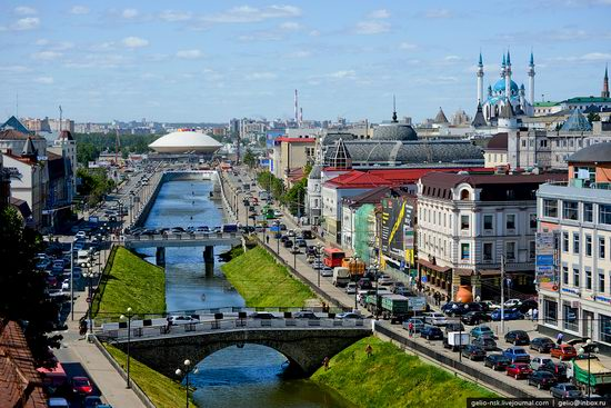 Summer Kazan city, Russia view 1