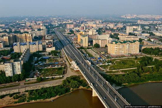 Omsk city, Russia from bird's eye view photo 11