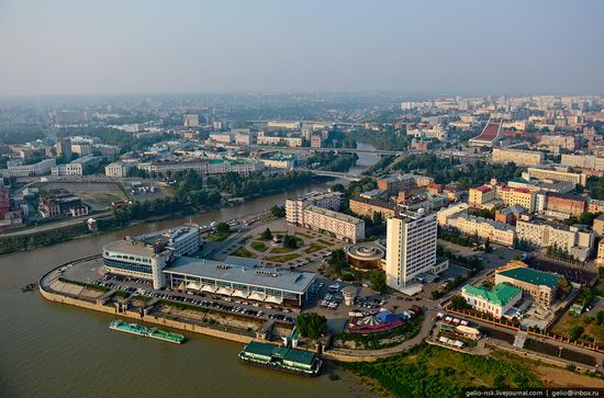 Omsk city, Russia from bird's eye view photo 13