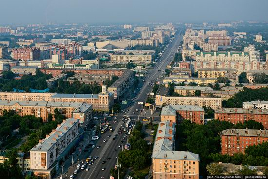 Omsk city, Russia from bird's eye view photo 2
