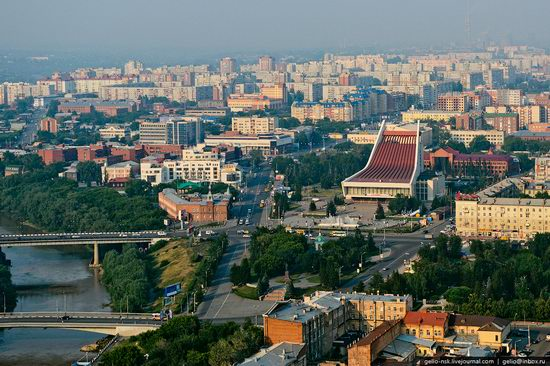 Omsk city, Russia from bird's eye view photo 3