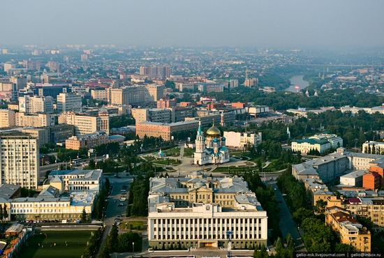 Omsk city, Russia from bird's eye view photo 5