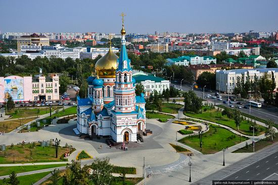 Omsk city, Russia from bird's eye view photo 6