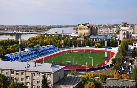 Omsk city, Russia from bird's eye view photo 8