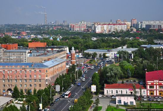 Omsk city, Russia from bird's eye view photo 9