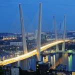 The bridge over Zolotoy Rog Bay in Vladivostok