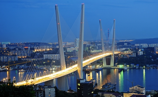 Zolotoy Rog Bay bridge, Vladivostok, Russia photo 1