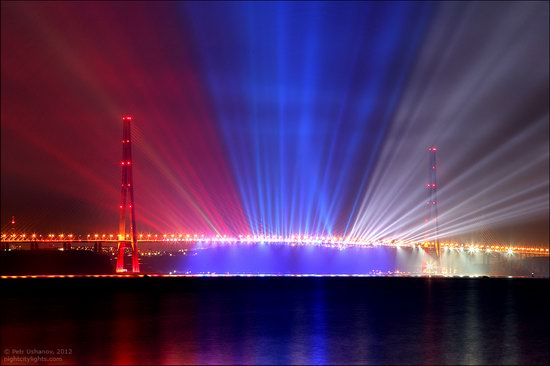 Light show in honor of the APEC Summit in Vladivostok, Russia photo 1