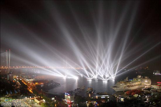 Light show in honor of the APEC Summit in Vladivostok, Russia photo 17