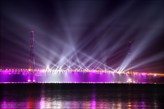Light show in honor of the APEC Summit in Vladivostok, Russia photo 2