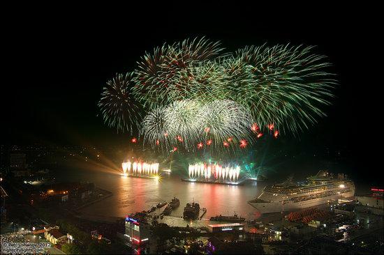 Light show in honor of the APEC Summit in Vladivostok, Russia photo 4