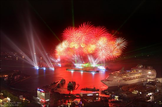 Light show in honor of the APEC Summit in Vladivostok, Russia photo 7