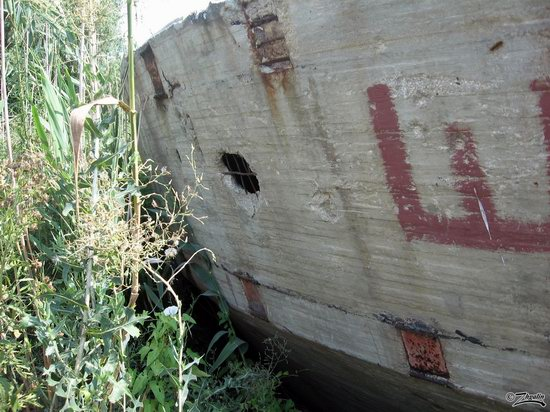 Abandoned concrete ship, Astrakhan region, Russia photo 15