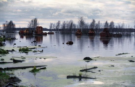 Abandoned peat extraction site near Moscow, Russia photo 1