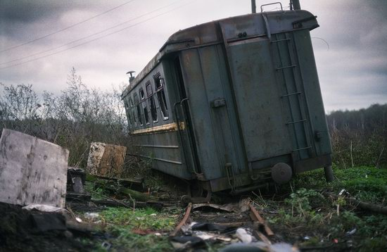 Abandoned peat extraction site near Moscow, Russia photo 12