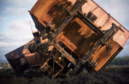 Abandoned peat extraction site near Moscow, Russia photo 13