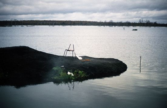 Abandoned peat extraction site near Moscow, Russia photo 2