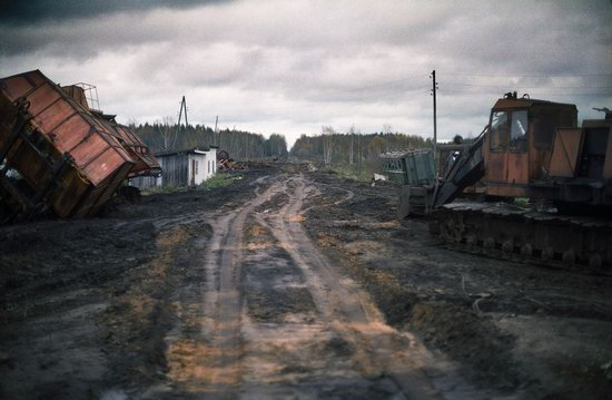 Abandoned peat extraction site near Moscow, Russia photo 3