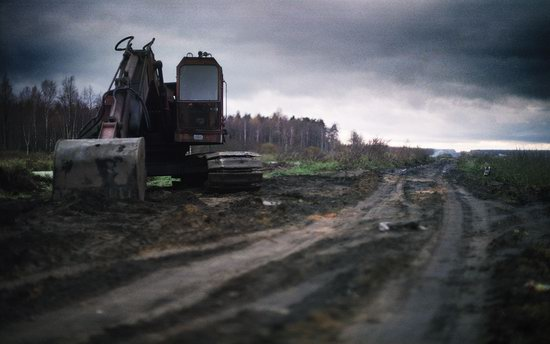 Abandoned peat extraction site near Moscow, Russia photo 5